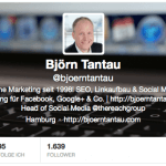Neues Design für Twitter Profile