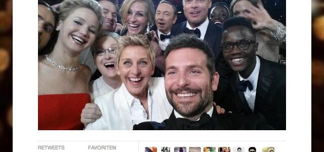 Oscar-Selfie schafft Twitter-Rekord