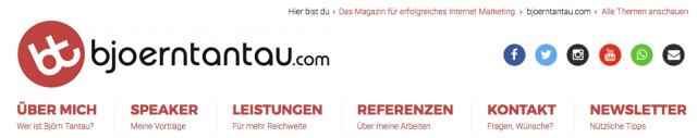 Eine übersichtliche Navigation sorgt für Durchblick auf deiner Website