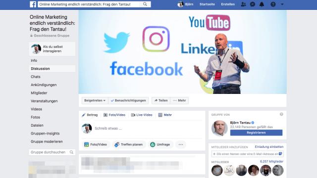 Mit einer großen Facebook Gruppe kannst du deine Videos pushen