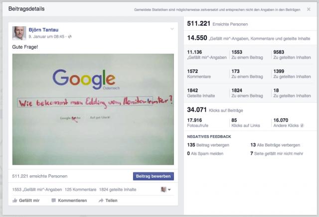 Wie du mit einem Posting in 4 Tagen 500.000 User auf Facebook erreichst
